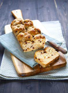 Brioche aux écorces d'orange et pépites de chocolat (vegan, sucré, boulange, petit déjeuner, goûter, enfants)