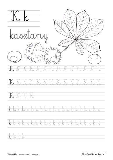 Nauka pisania dla dzieci, k pisane, pomoc w kształceniu grafomotoryki, Anna Kubczak