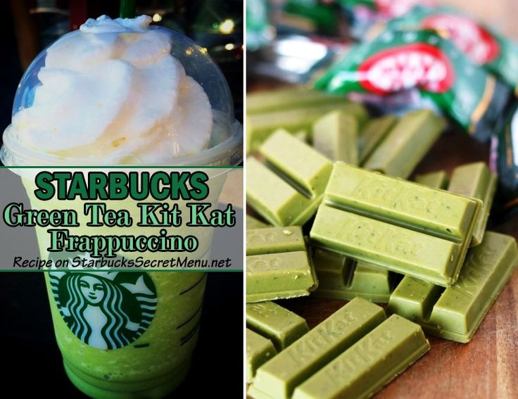 We can't get enough of Starbucks Green Tea Kit Kat Frappuccino! Sooo good!