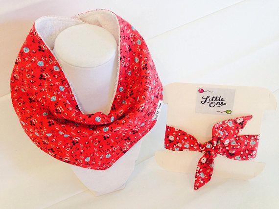 Floral bandana bib set Floral clothing-floral
