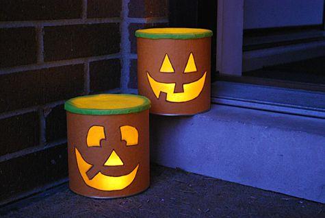 Baby formula can Jack o Lanterns: Baby Formula Cans, Halloween Candles, Pumpkin, Diy Tutorials, Halloween Crafts, Crafts Projects, Jack O' Lanterns, Jack O'Connel, Halloween Cans