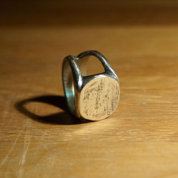 Each Signet Ring is hand finished meaning that the markings on every ring are unique. The strong and chunky style is present is everyone of these rings. My favourite this week, everyone needs a signet ring in their life. Hallmarked sterling silver.