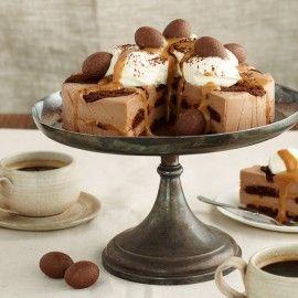 Chocolate Ripple Caramello Cheesecake Recipe | Legendairy