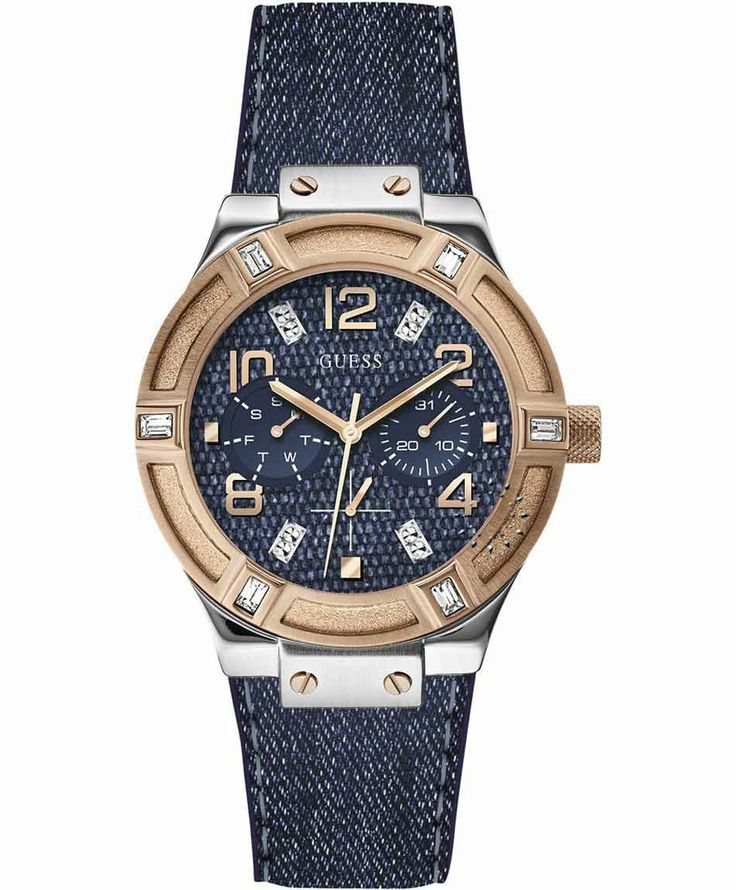 GUESS Crystal Blue Fabric Strap Μοντέλο: W0289L1 Η τιμή μας: 169€ http://www.oroloi.gr/product_info.php?products_id=37524