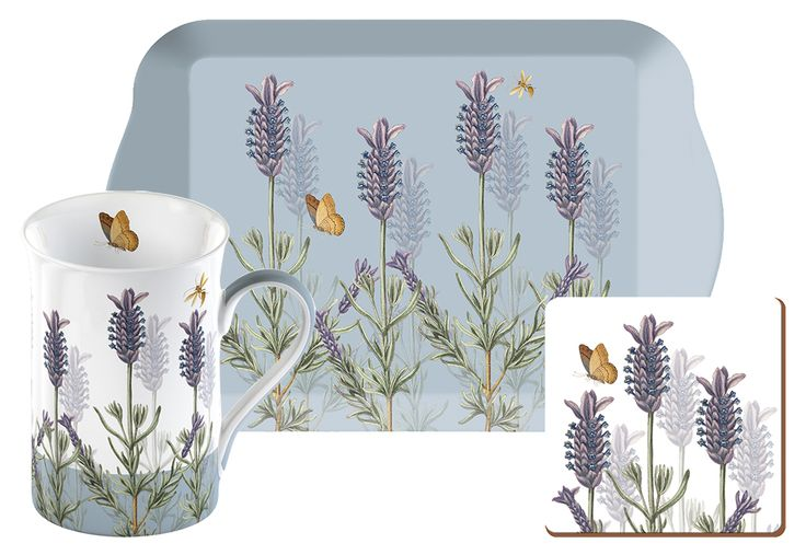 The perfect gift for any tea and coffee drinker, this Time for Tea Gift Set with gorgeous lavender design, is part of the Royal Botanic Gardens, Kew Lavender Collection