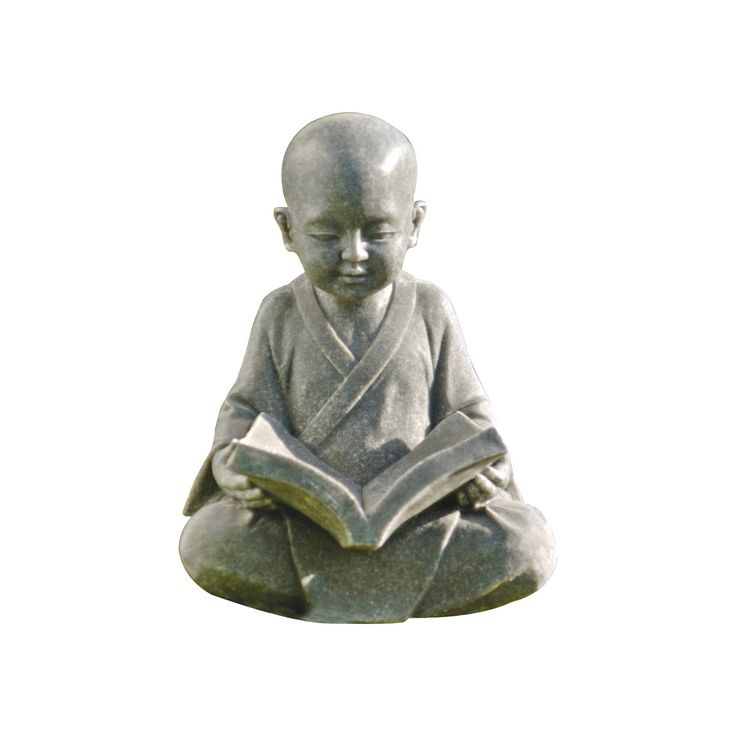 Baby Buddha Studying The Five Precepts Garden Statue