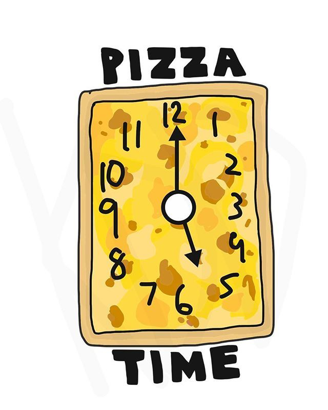 Pizza Time. #pizza #gimmepizza #time #clock #funny #cute #art #doodle #kddoesdoodles
