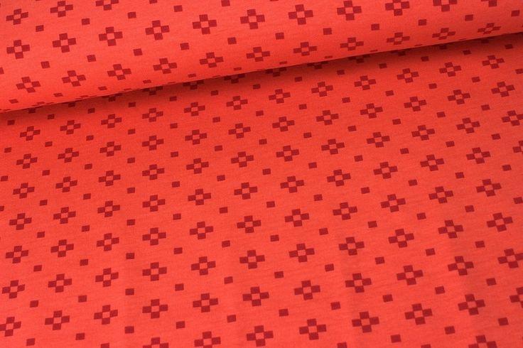 Weiteres - Jersey - Kombistoff - Lotte Square - NIKIKO-Orange - ein Designerstück von alles-fuer-selbermacher bei DaWanda