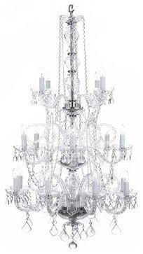 Murano Venetian Style All Crystal Chandelier Lighting Traditional Chandeliers 50 H 30w 495