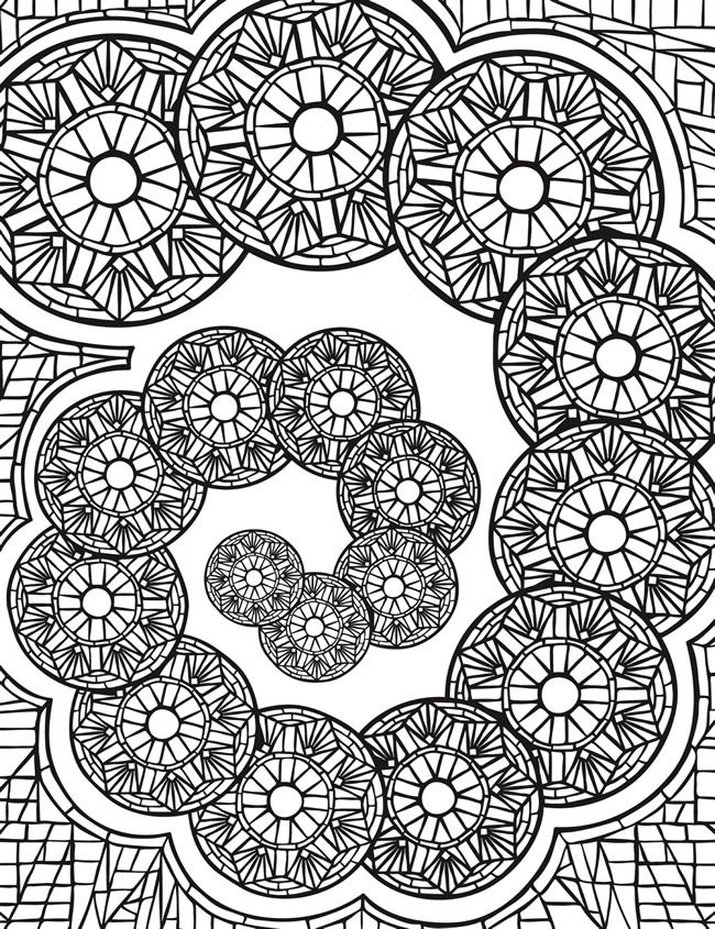 Welcome To Dover Publications Escapes Mosaics Coloring Book By Jessica Mazurkiewics