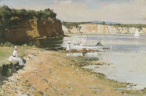 Tom Roberts - Slumbering Sea  Born England 1856, Arrived Australia 1869, Died 1931