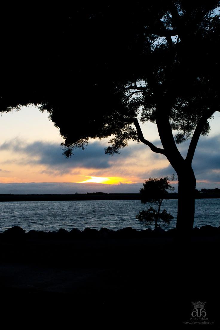 My sunset shot in Marina Park, San Leandro, California