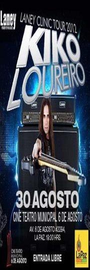 KIKO LOUREIRO EN BOLIVIA uno de los mejores guitarristas de todos los tiemposse presenta hoy en el Cine Teatro 6 de Agosto