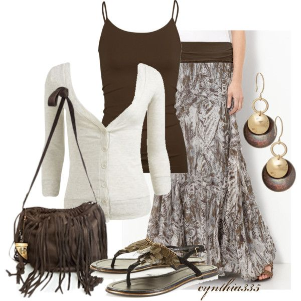 Maxi Skirt,  Polyvore