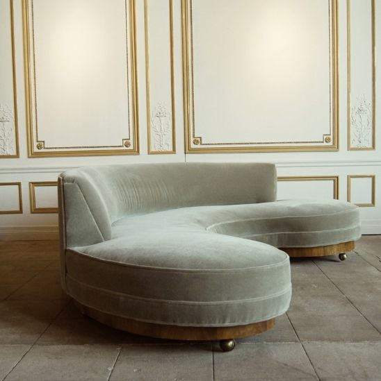 Early Vladimir Kagan Sofa, Circa 1950 At