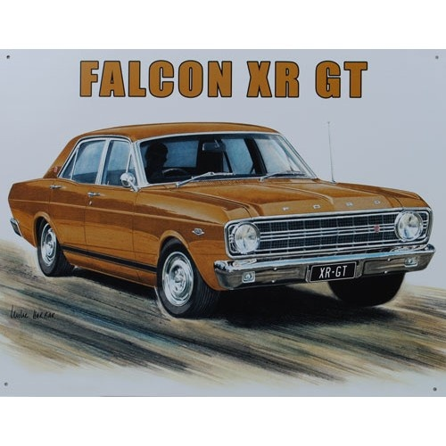 Ford Falcon XR GT Car Tin Sign from Sarah J Home Decor.  $32.95