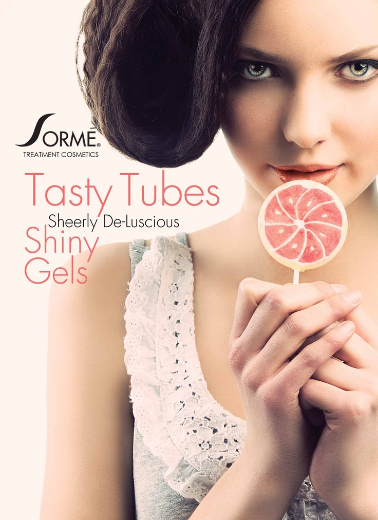 Tasty Tubes Gloss. Shiny Gel gloss for the on the go beauty. Yum! www.facebook.com/sormecosmetics
