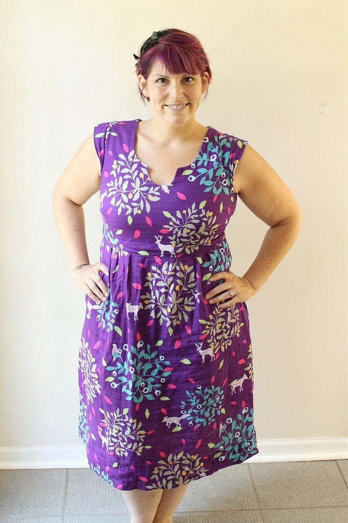purple washi dress with full bust adjustment