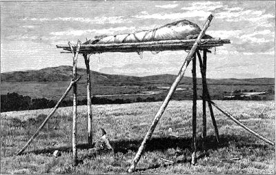 American Indian's History and Photographs: Native American Burials: Trees and Scaffolds Illustrated
