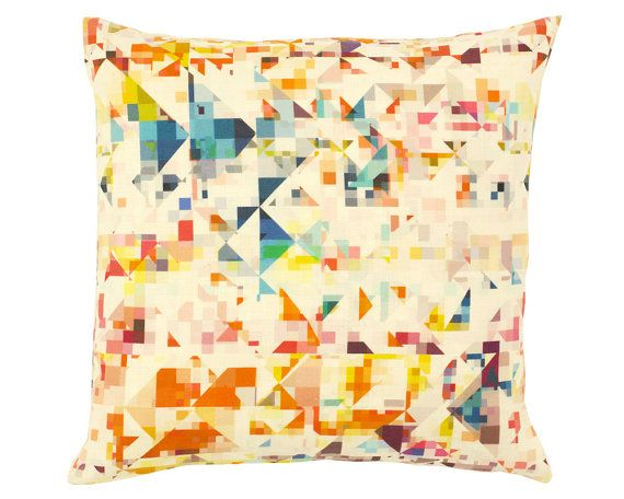 Designer Cushion Flock Northmore Geometric Pillow by OOMFinteriors