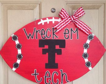 Cute Door Hanger! #SupportTradition #TTAA #TexasTech