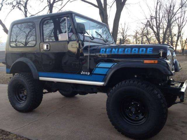 cj7 black jeep renegade with blue lettering - Google ...