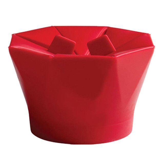 DIY Silicone Microwave Popcorn Maker Bucket Popcorn Bowl Popper Maker Container Healthy Snack Home New Baking Tools