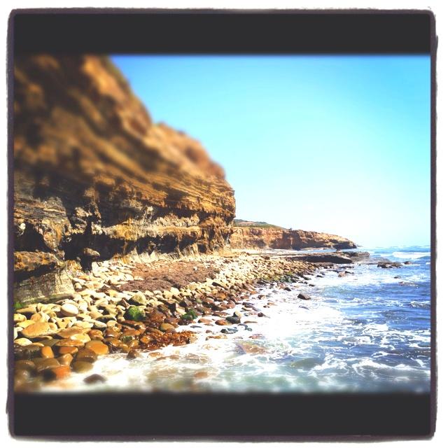 The cliffs of Ocean Beach California