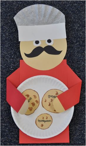 "http://thefirstgradeparade.blogspot.com/  ""Each cookie was labeled with a compound word of their choice."""