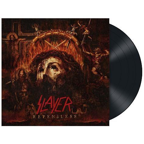 """L'album degli #Slayer intitolato """"Repentless"""" su vinile nero."""