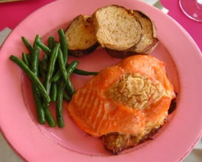 stuffed salmon - hoping it is like the ones at Sam's Club because those are A-mazing!!
