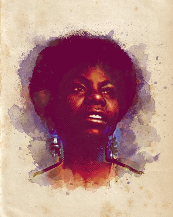 Nina Simone  8x10 Print by PerfectCursive on Etsy, $15.00