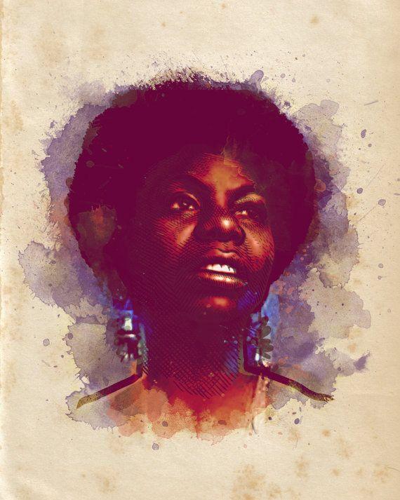 Nina Simone Print by mariozucca on Etsy, $5.00