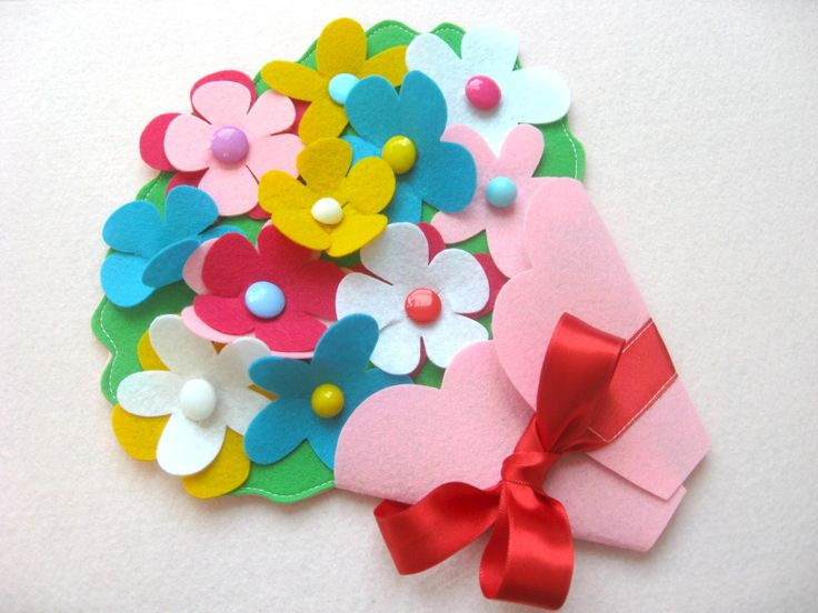 цветы из фетра 9