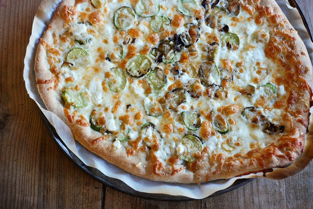Zucchini & Goat Cheese Pizza. I was super dubious about this pizza ...
