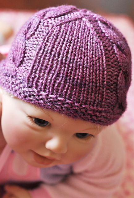 Baby Hat Knitting Pattern Ravelry : 17 Best images about Baby Hats - Knit Cable & Pattern on Pinterest Cabl...