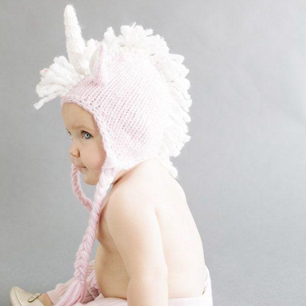 Blueberry Hill - Unicorn Knit Hat pink