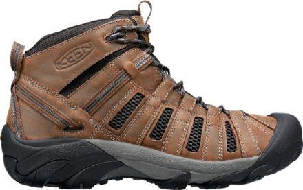 KEEN Men's Voyageur Mid Hiking Boots Cascade Brown/Raven 10.5