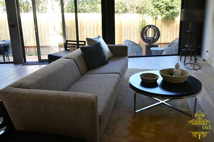Grand Oak Timber Flooring: Gunsynd Oak Living Room