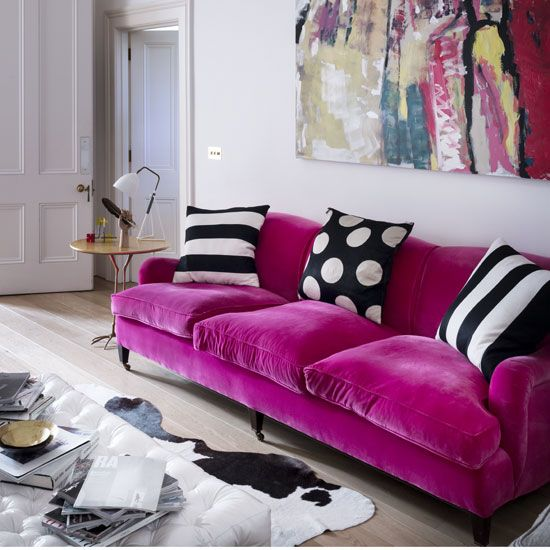 Best 10 Hot Pink Looks Sofa Colors Tiny Living Rooms 640 x 480