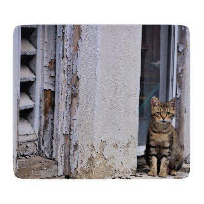 Buffalo NY - Mama Cat at Church- Cutting Board - photos gifts image diy customize gift idea