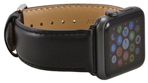 Apple Watch ECHT Leder Armband Ersatzband Luxus Uhrenband Strap Genius 38 mm Basic / Sport / Edition - in Schwarz von OKCS - http://on-line-kaufen.de/okcs/38-mm-apple-watch-apple-watch-echt-leder-armband-in-2