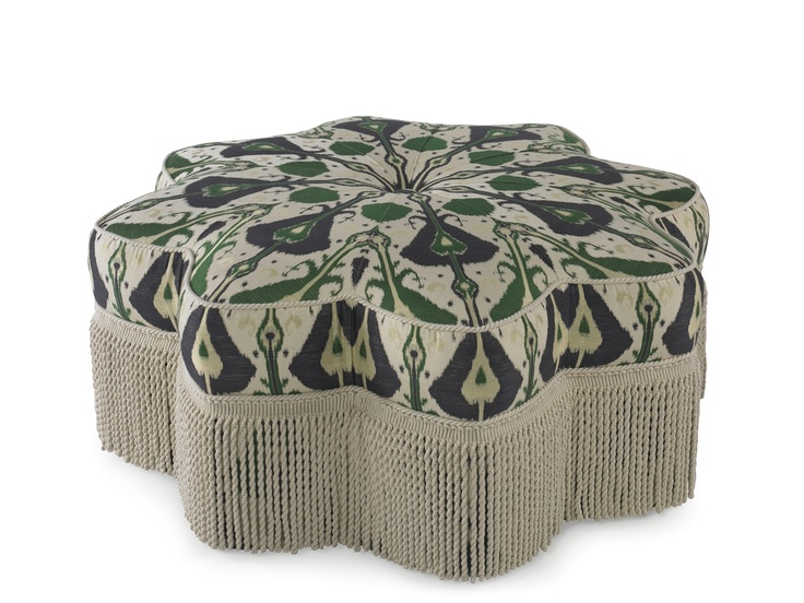 Divine Pearson Star Of India Ottoman In Exclusive Turkish Ikat