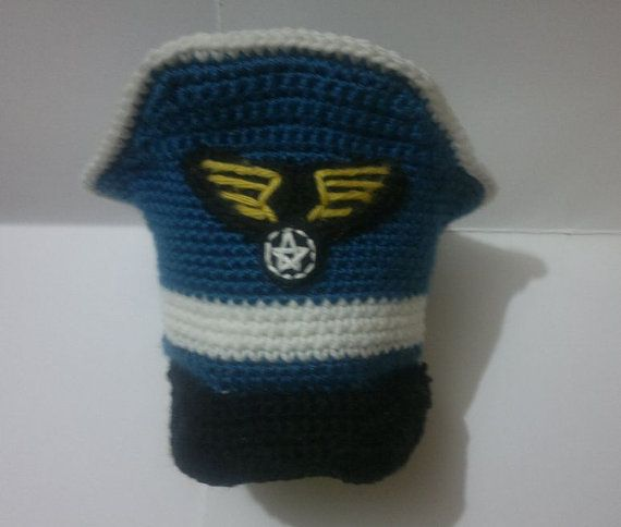 Military Pilot Hat Crochet PDF PATTERN Aviator Captain Army