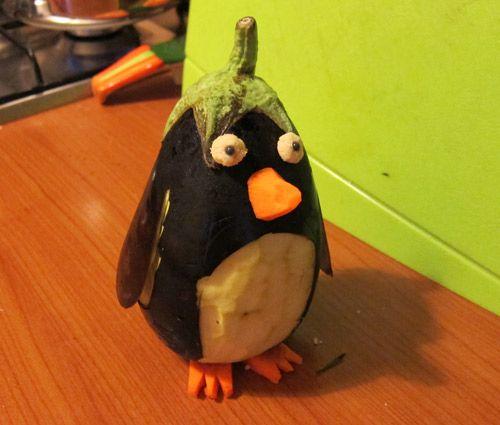 Il pinguino melanzana!