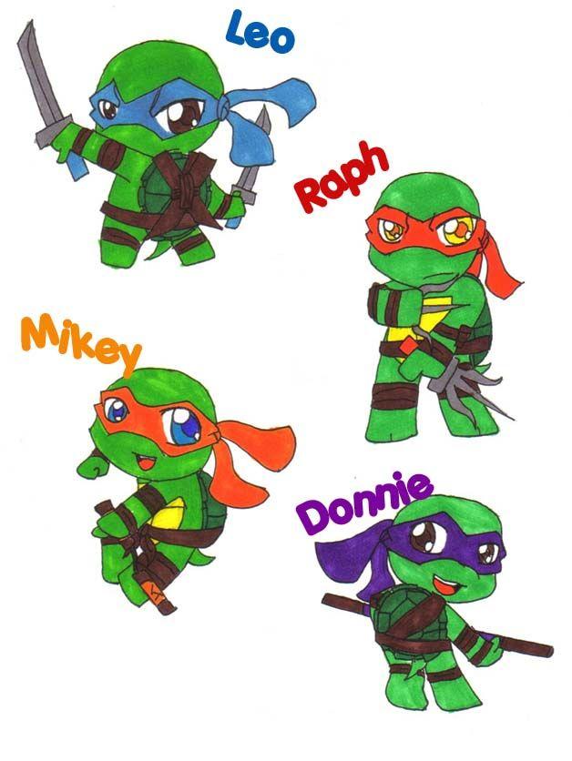 How to draw Cute ninja turtles, Michelangelo - YouTube |Baby Ninja Turtles Drawings