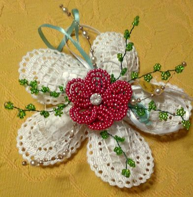 fiorellino perline e strass