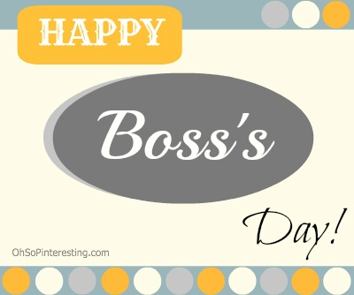 Boss's Day October 16th. #Card idea