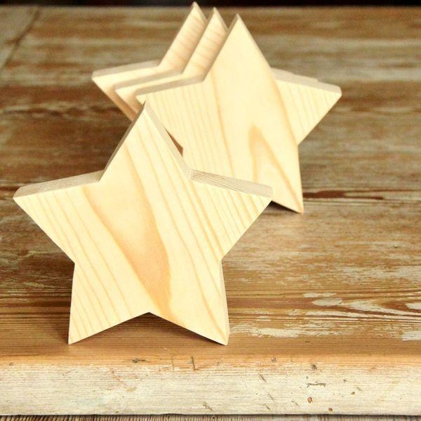 Gwiazdka drewniana ozdoba stojąca 11cm w Story Wood na DaWanda.com