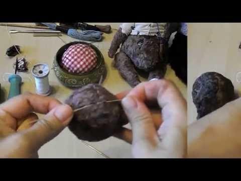 Видео мастер-класс: шьем мишку в винтажном стиле. Урок 4 - Ярмарка Мастеров - ручная работа, handmade